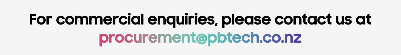 For commercial enquiries, please contact us at procurement@pbtech.co.nz