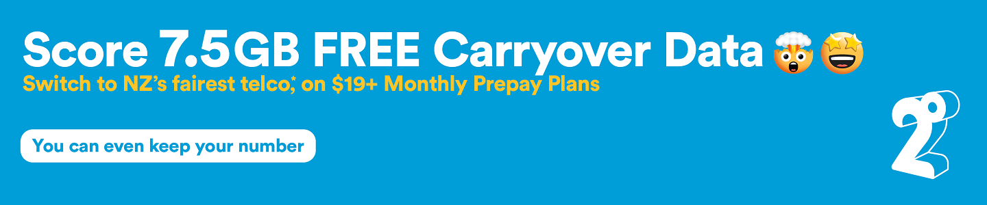 Score 7.5GB Free Carryover Data with 2degrees