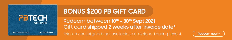 Redeem Your Bonus Gift Card