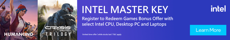 Picture of Intel Master Key Bonus Offer at PB Tech