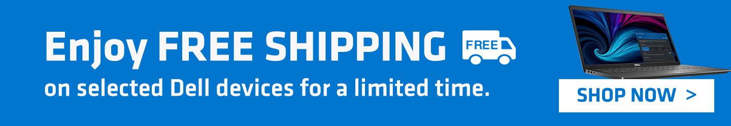 Free shipping on selected Dell devices