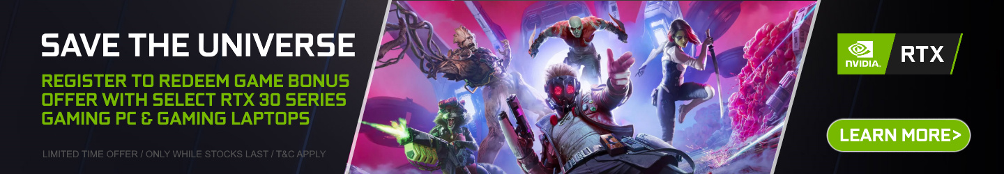 Nvidia Marvel Guardians of the Galaxy Game Bonus Offer at PB Tech