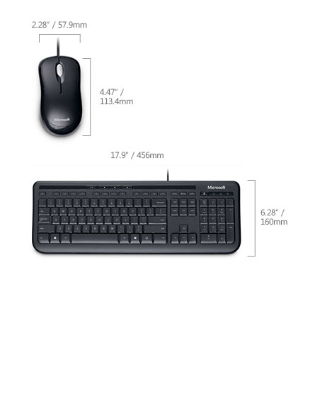 buy the microsoft usb wired desktop 600 keyboard and optical mouse combo apb 00018 online. Black Bedroom Furniture Sets. Home Design Ideas