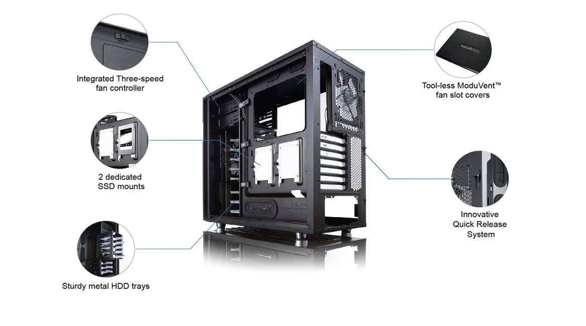 Fractal Design Define R5 Usb3 0 Mid Tower Case Black Without Psu