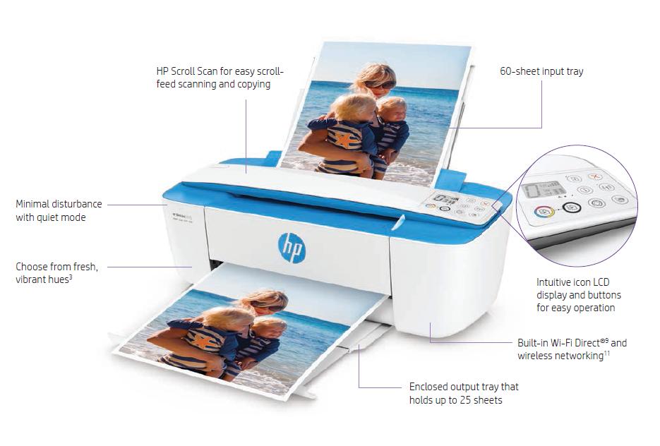 Buy the HP Deskjet 3720 inkjet MFP print/copy/scan ePrint