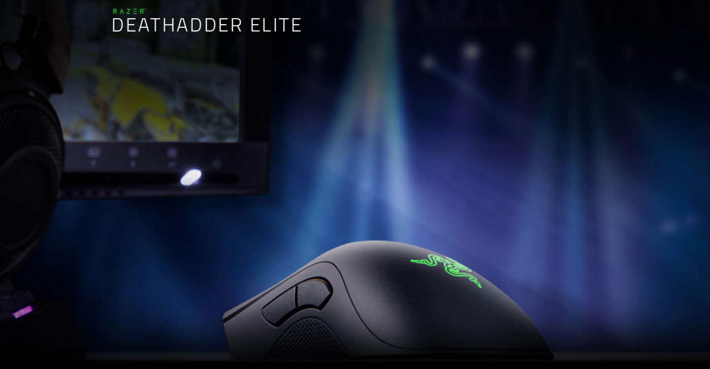 Buy the Razer DeathAdder Elite Gaming Mouse Ergonomic for