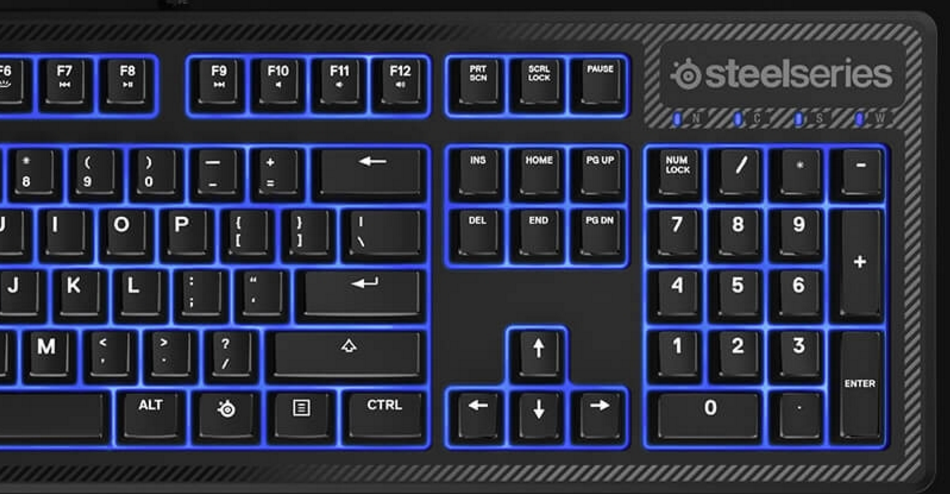 SteelSeries Apex 100 Gaming Keyboard with Blue LED Backlit