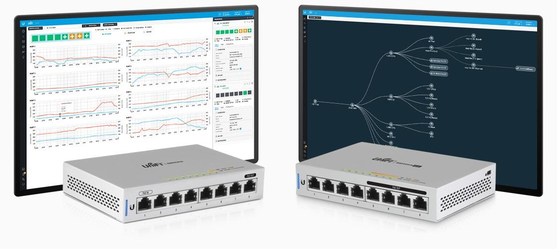 Buy the Ubiquiti UniFi Switch US-8-60W 8-Port Gigabit Managed PoE Switch  with    ( US-8-60W ) online