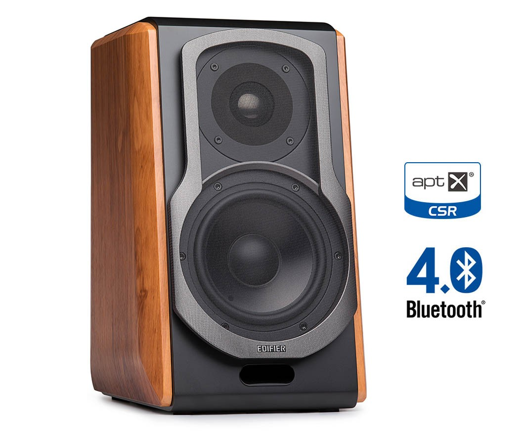 Edifiers S1000DB 20 Bookshelf Speaker System Features Bluetooth AptXR Widely Used For Public Broadcasting Musical Performances And Filming In Studios