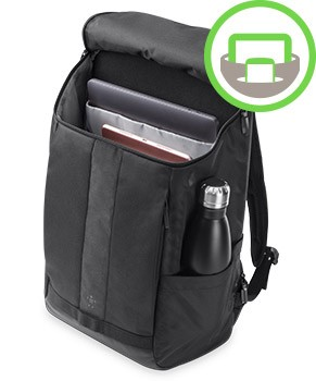 A hidden pocket offers added security for sensitive items and documents  while a dedicated pocket protects your laptop or tablet. feb14e9ee0f15