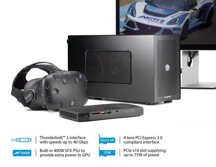 Buy the Akitio NODE Thunderbolt 3 External GPU box, 1 X PCIe X 16 slot    (  NODE-T3IA-AKTU ) online