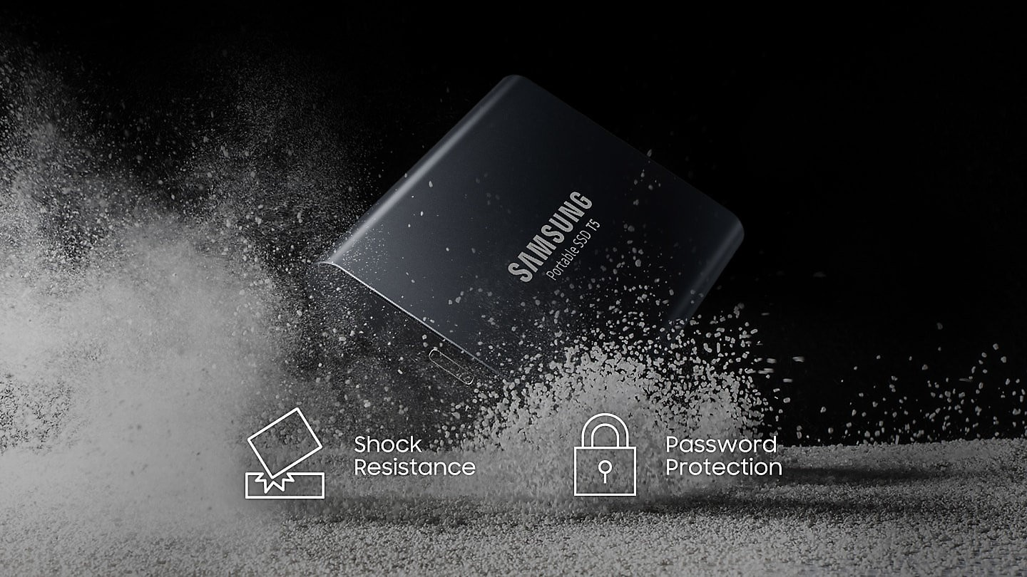 Buy the Samsung Portable SSD T5 1TB, USB 3 1 (Gen 2) Type-C, Up to  540MB/s,    ( MU-PA1T0B/WW ) online