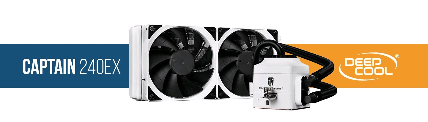 Picture of Captain 240mm white water cooling kit at PB Tech