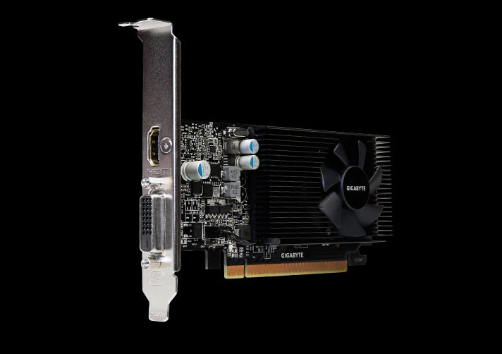 Buy the Gigabyte GeForce GT1030 2GB GDDR5 Graphics Card, GPU Upto 1506  MHz,    ( GV-N1030D5-2GL ) online