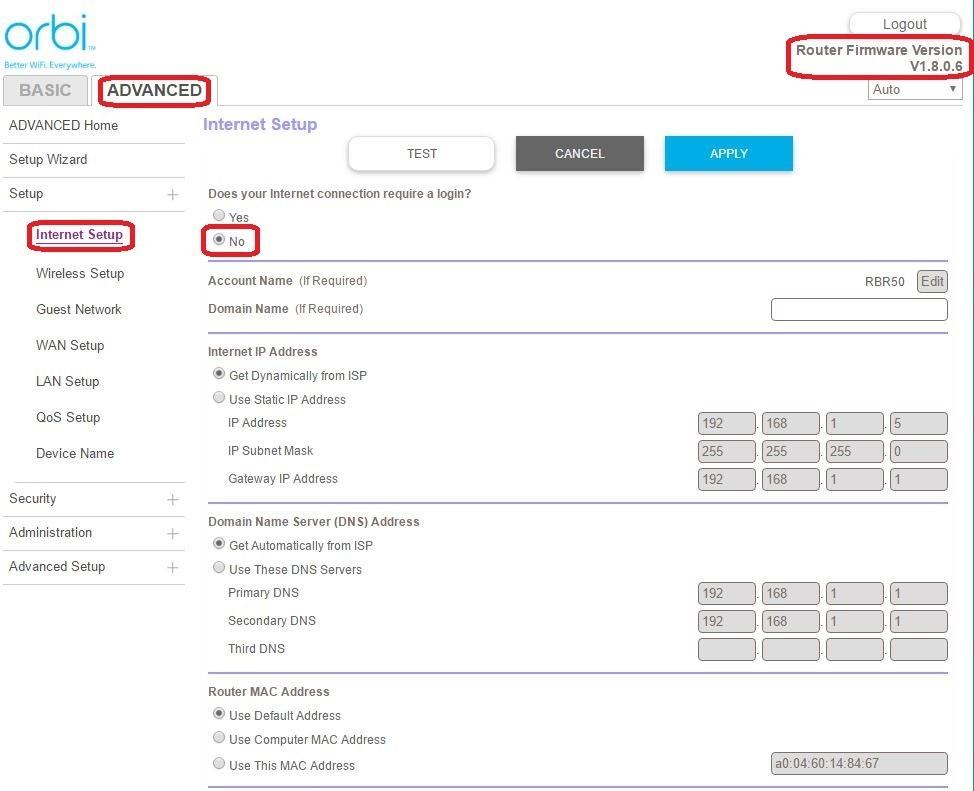 Netgear Modem / Router UFB Settings - PBTech co nz