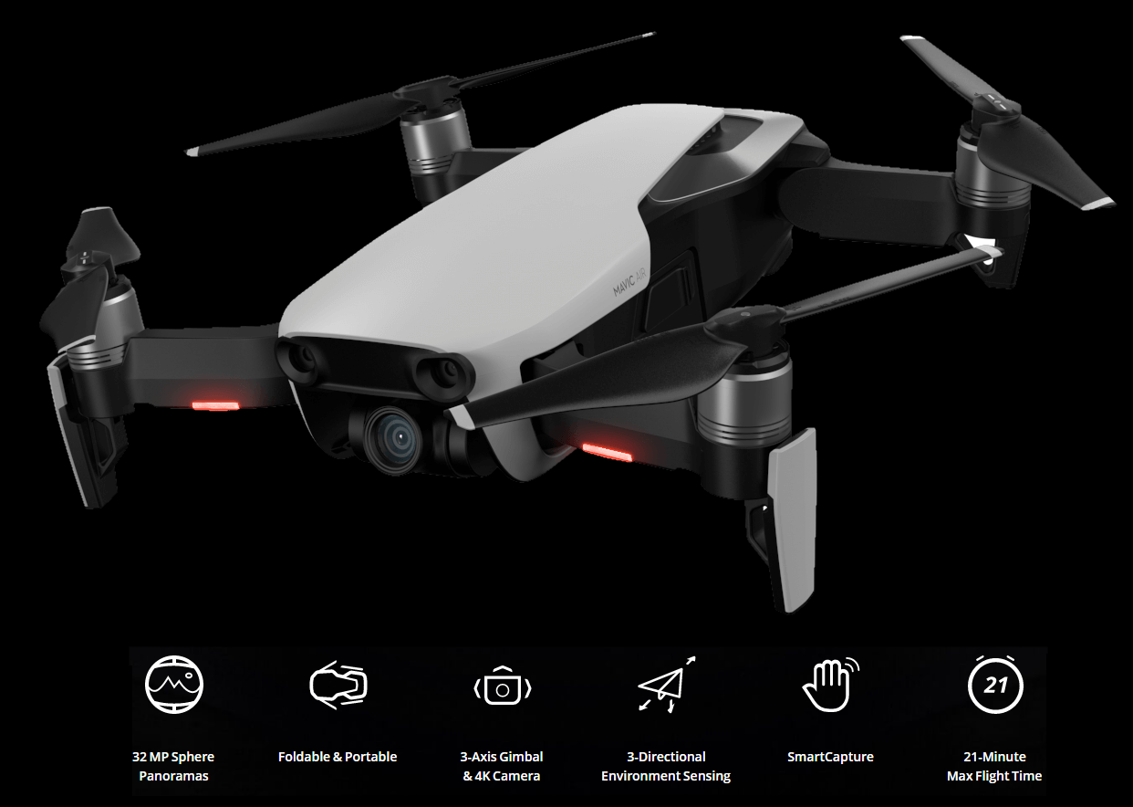 Buy the DJI MAVIC Air Drone Fly More Combo Onyx Black - 32