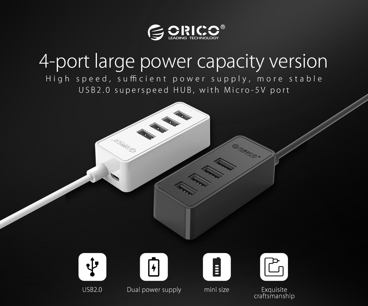 Buy The Orico 4 Port Essential Desktop Usb 20 Hub 4x Targus 4port Real Ideal For Keyboard Mouse Wifi Adapter Extension