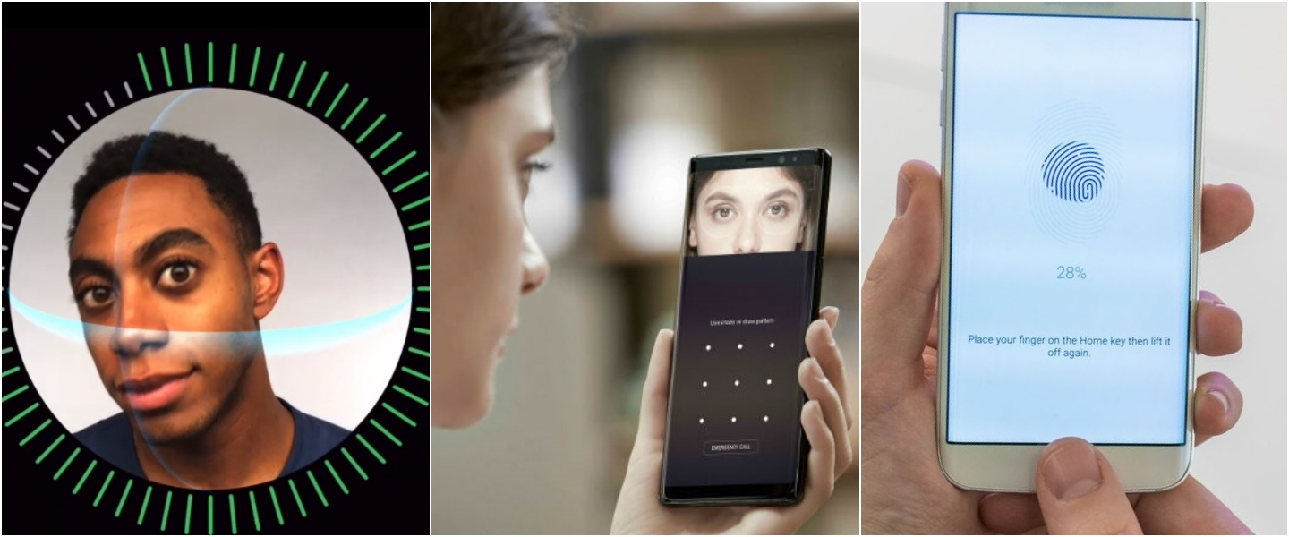 Security and password with facial recognition, iris and fingerprint scanning