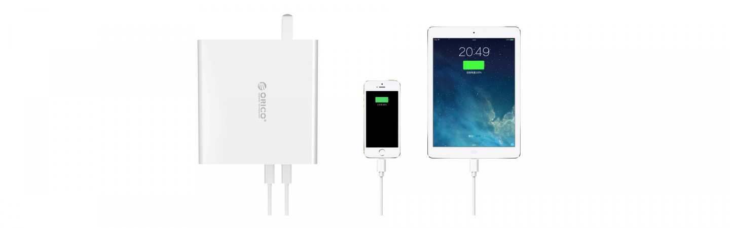 Buy The Orico 30w 4 Port Slim Smart Usb Wall Charger 4x 5v 24a Circuit Mobile Phone Battery Overall Power Output Of This Reaches Up To Enough Supply For Devices At Same Time Charging