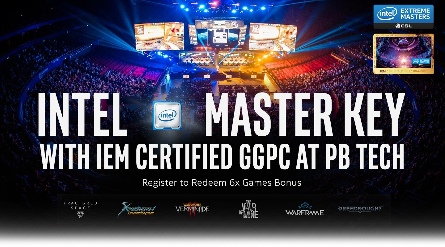 Picture of GGPC IEM Gaming PC and Intel Master Key Bonus Games at PB Tech