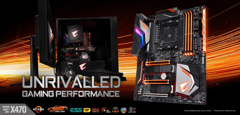 Buy the Gigabyte X470 AORUS GAMING 7 WIFI ATX For AMD Ryzen 2nd/3rd Gen,     ( x470 AORUS GAMING 7 WIFI ) online