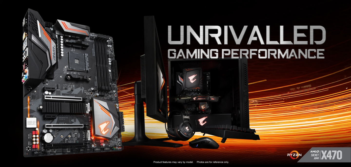 Buy the Gigabyte X470 AORUS ULTRA GAMING ATX For AMD Ryzen Socket AM4   AMD    ( GA- X470 AORUS ULTRA GAMING ) online