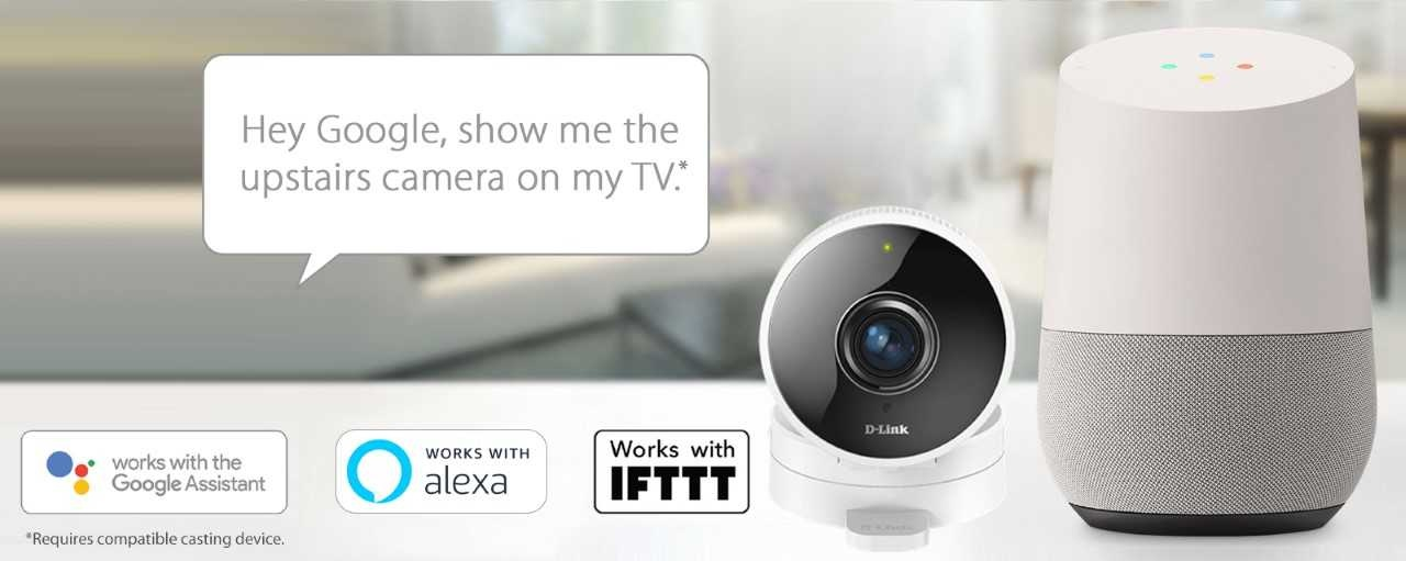 Buy the D-Link DCS-8100LH Smart Wi-Fi Camera, 720p, 180° Viewing