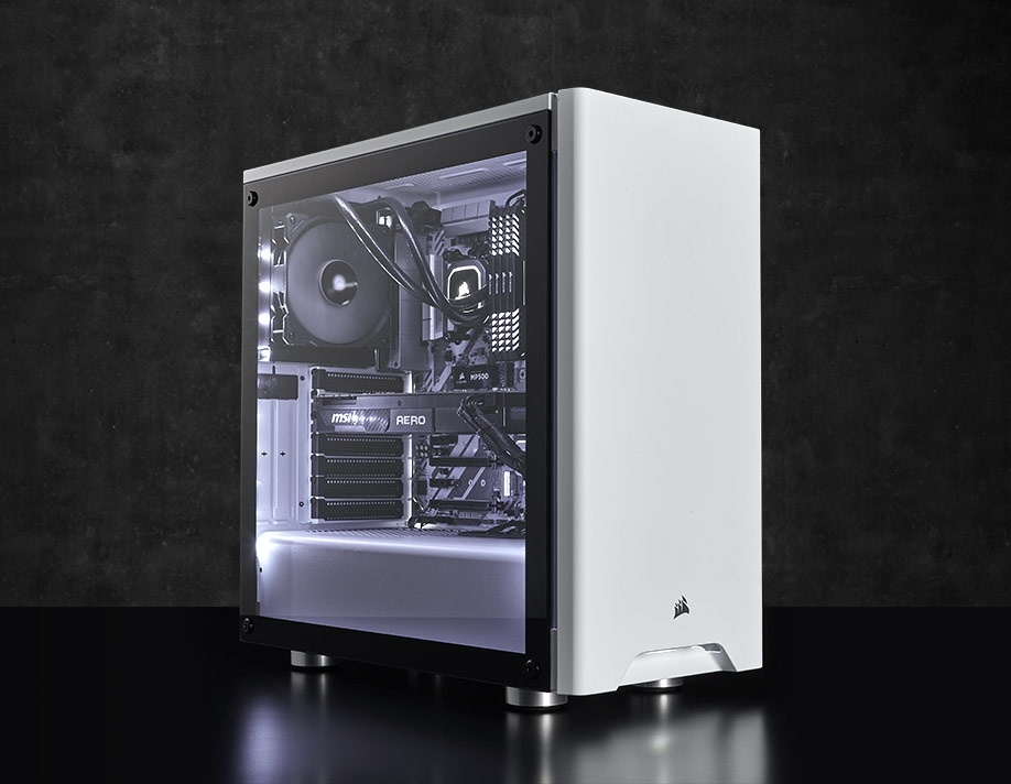 newest b1c0e 4af87 Buy the Corsair Carbide 275R White Edition ATX MidTower Gaming Case  Tempered... ( CC-9011133-WW ) online