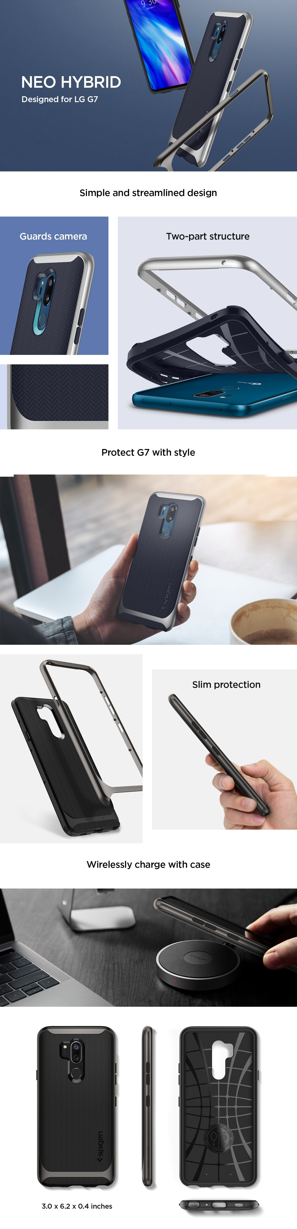 newest d3309 19693 Buy the Spigen LG G7 ThinQ Neo Hybrid Urban Case Gunmetal,Certified  Military... ( A27CS23037 ) online