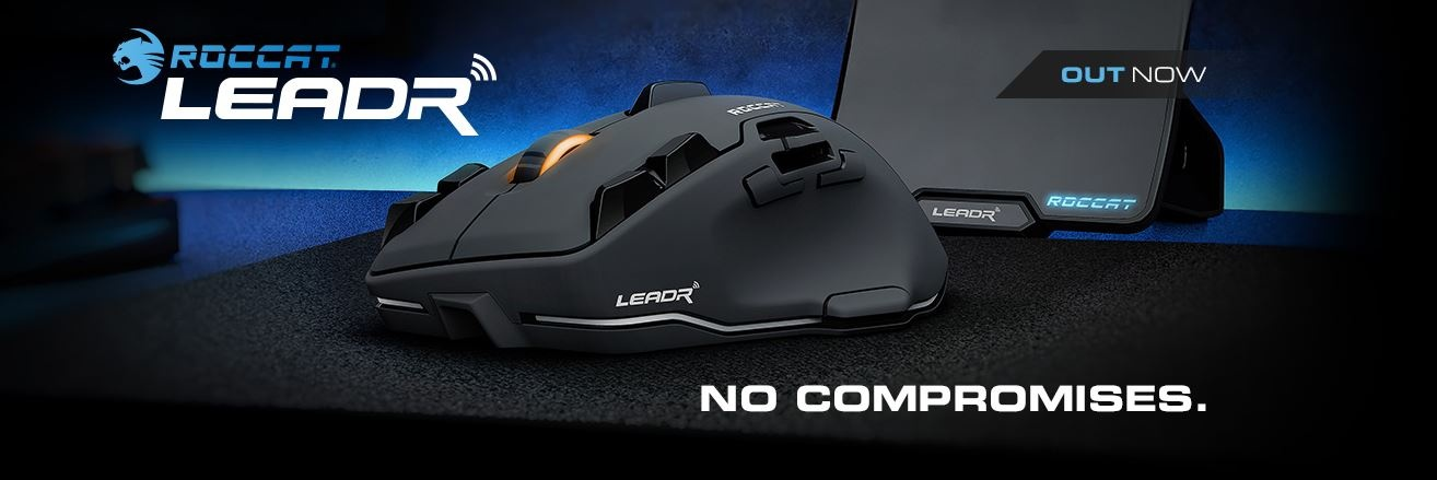95de5308aec ROCCAT® LEADR - WIRELESS MULTI-BUTTON RGB GAMING MOUSE The Leadr gives you  the freedom of wireless with the performance of wired.