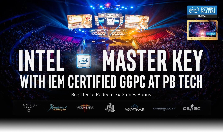 Picture of GGPC IEM Gaming PC and Intel Master Key Bonus Games at PB Tech