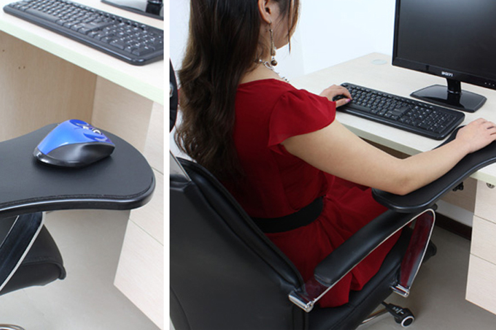 Using a mouse on the attachable arm rest