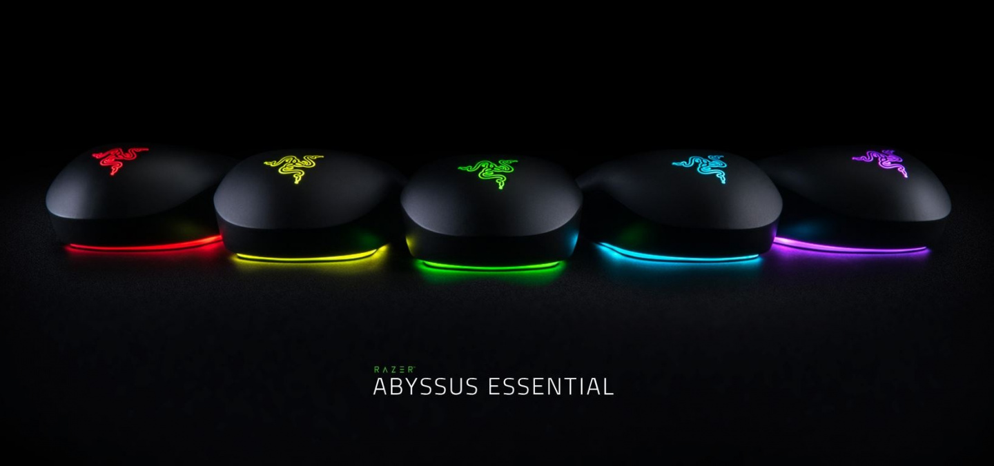 Buy the Razer Abyssus Essential Chroma RGB Gaming Mouse 7200 DPI Optical     ( RZ01-02160300-R3M1 ) online
