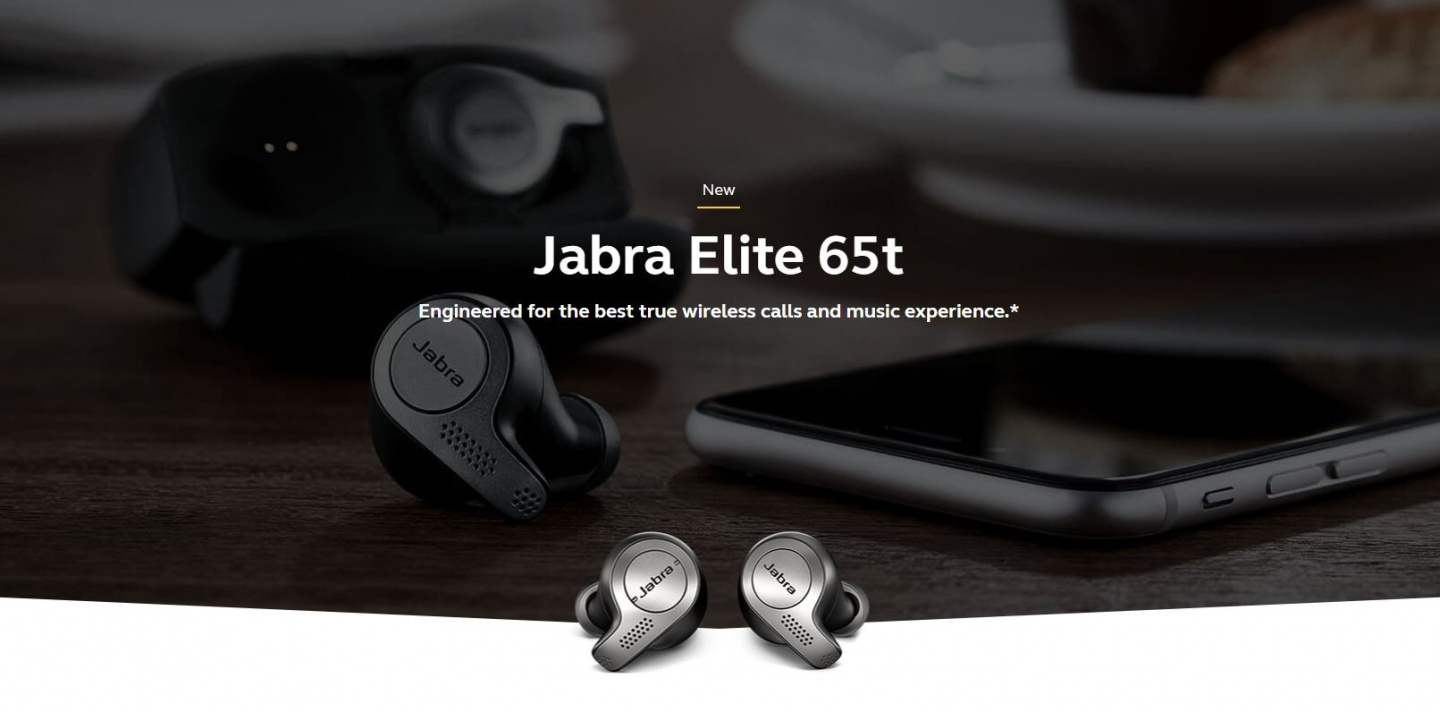 Buy the Jabra Elite 65t Titanium Black True wireless earphones with mic -  in    ( 100-99000000-40 ) online