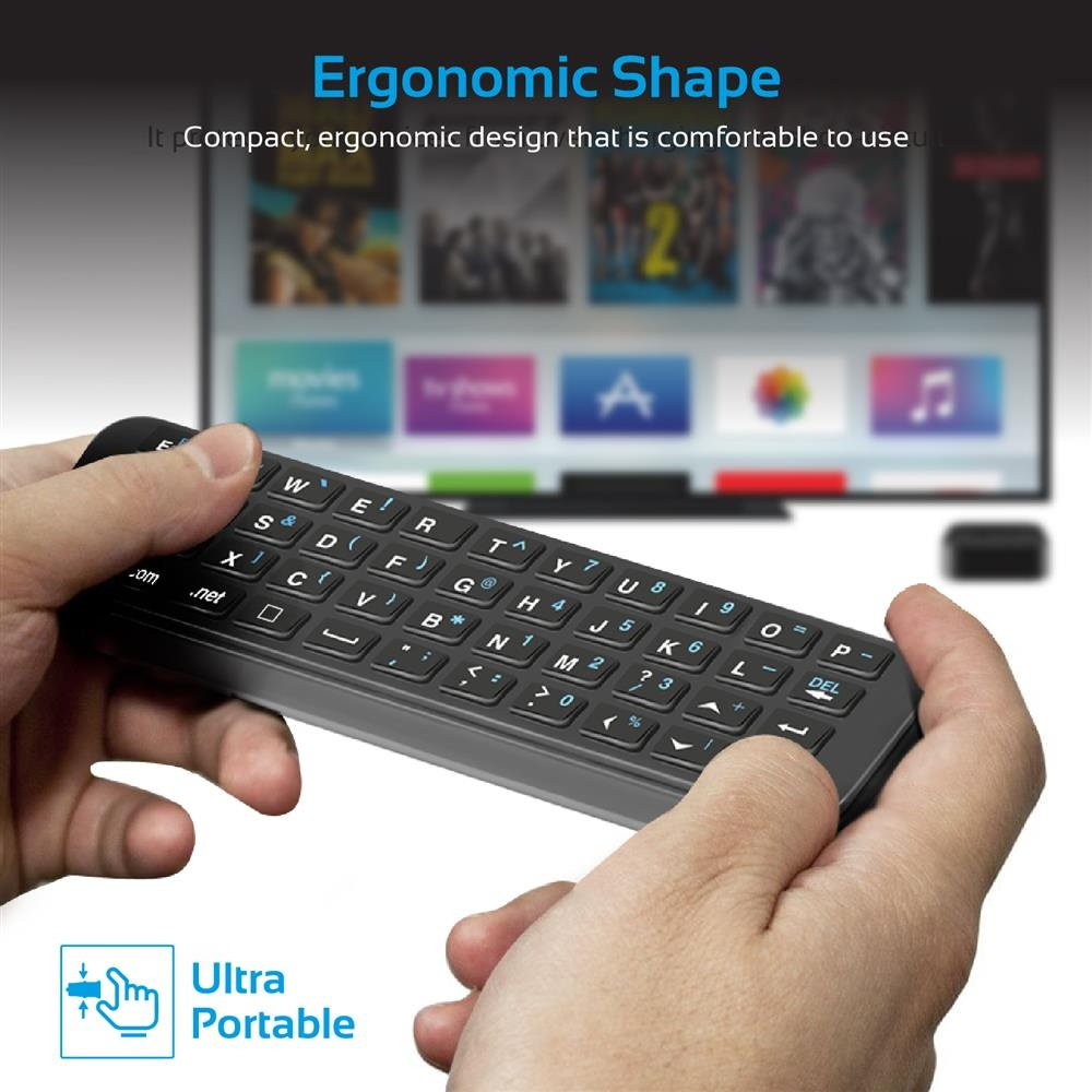 Buy the Promate SIRIKEYBOARD Compact Wireless Mini-Keyboard for Apple  TV     ( SIRIKEYBOARD ) online