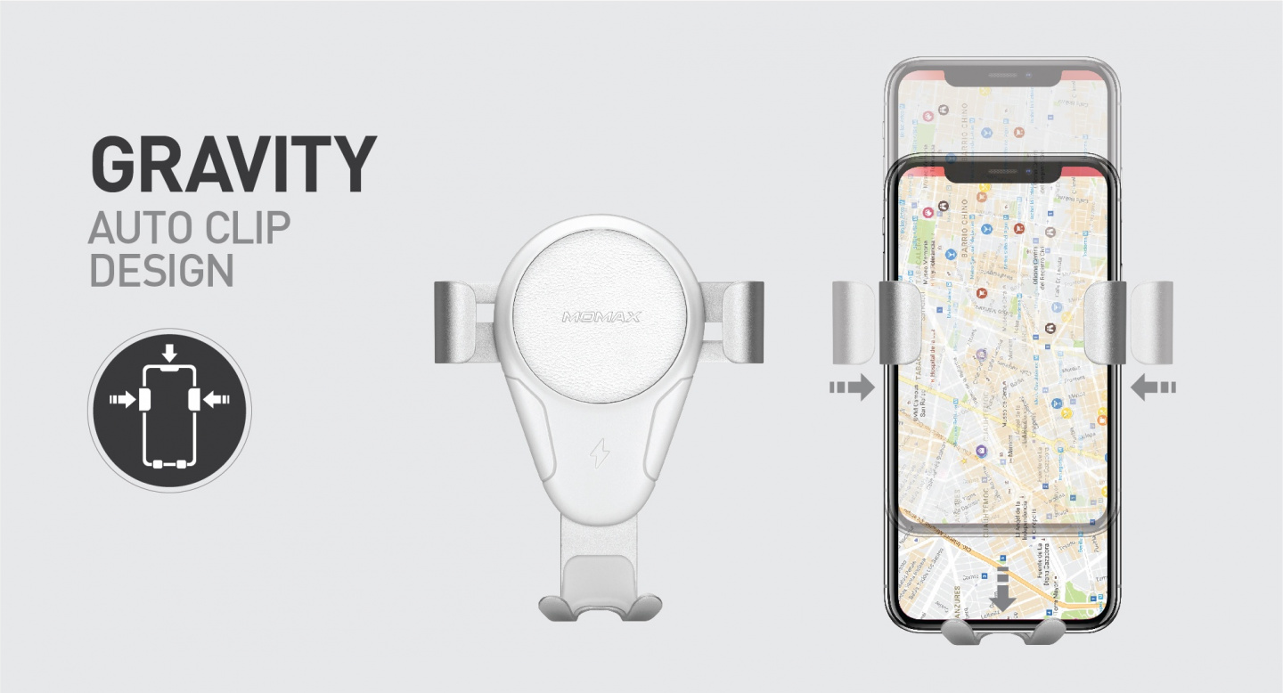 Buy The Momax Air Vent Gravity Fast Wireless Charging Car Charger Tomtom Go Wiring Diagram Features