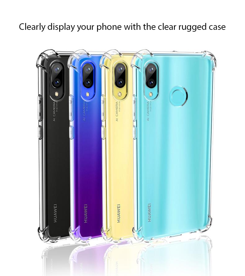 new york 77389 99ad4 Buy the Huawei Nova 3 Clear Rugged Case, Crystal Clear, Corner Guard ...