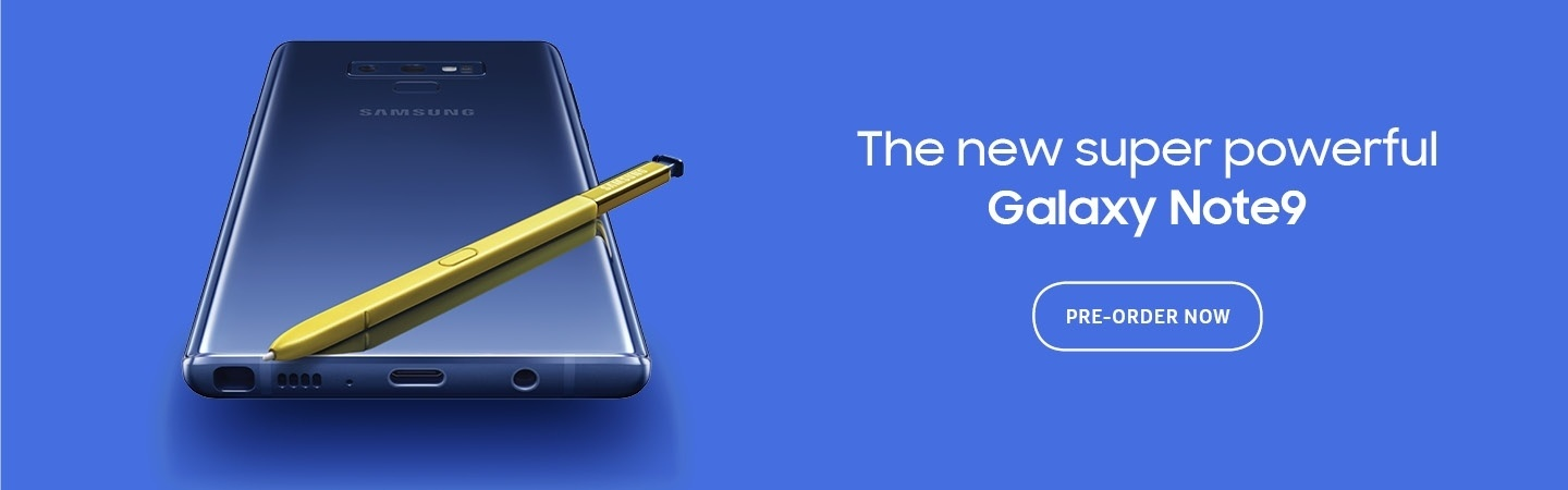 Picture of the Samsung Galaxy Note9 at PB Tech