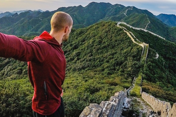 Taking photos of great wall with GoPro