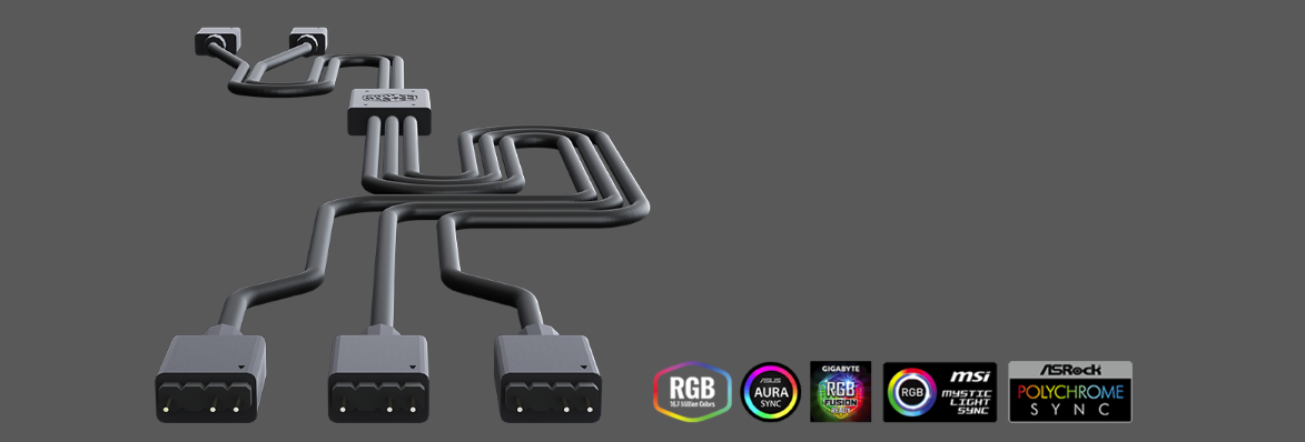 Buy the Cooler Master Addressable RGB Trident Fan cable (1