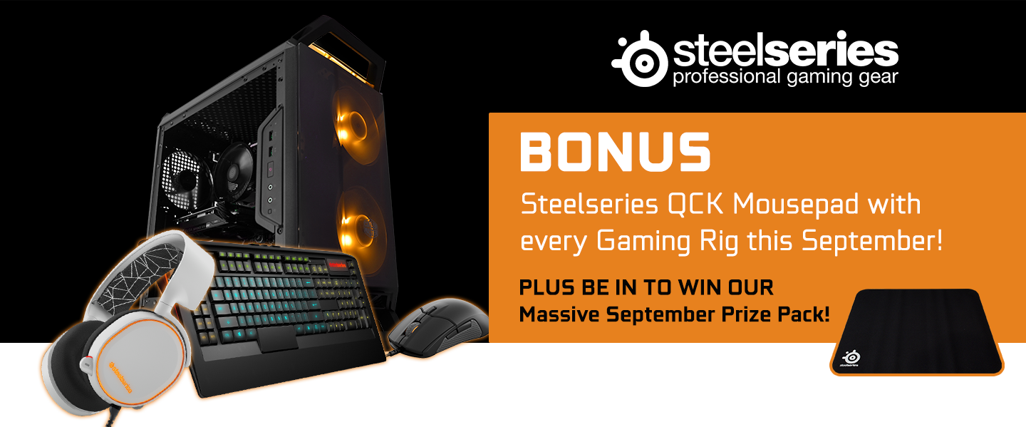 SteelSeries BONUS with GGPC at PB Tech this September