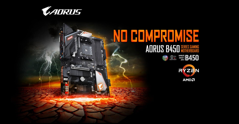 Buy The Gigabyte B450 Aorus Pro Wifi Atx Motherboard For Amd Ryzen 2nd 3rd Ga B450 Aorus Pro Wifi Online Pbtech Co Nz