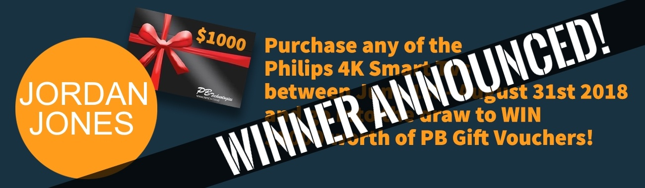 PB Tech Philips TV Giftcard Winner