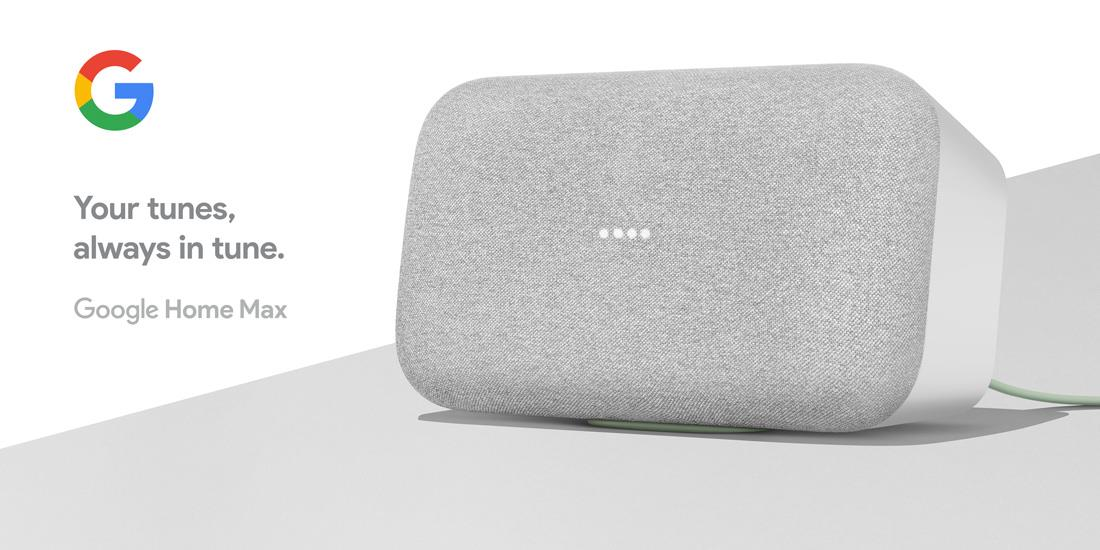 Buy the Google Home MAX Smart Speaker with Google Assistant