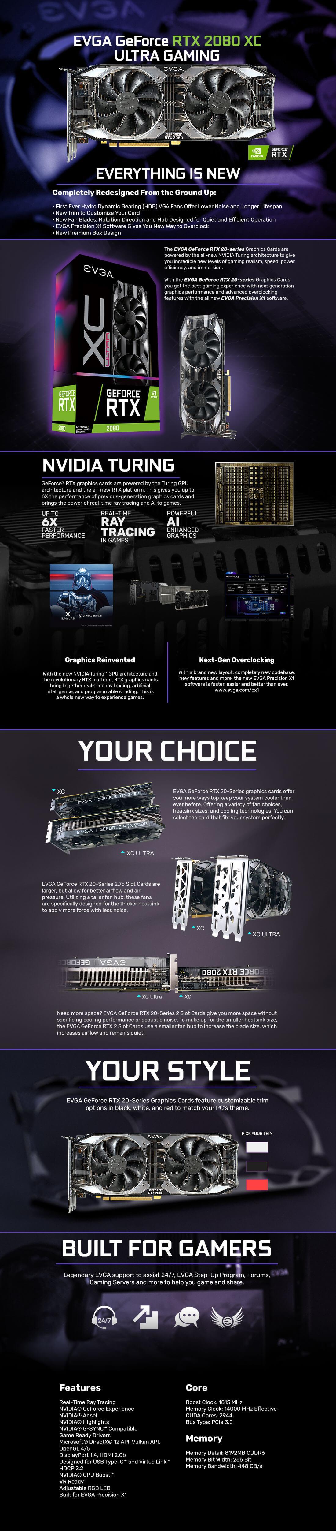 Buy The Evga Geforce Rtx 2080 Xc Ultra 8gb Gddr6 Gaming Garphics Segotep Ramadan 5 Microsoft Directx 12 Api Vulkan Opengl 4