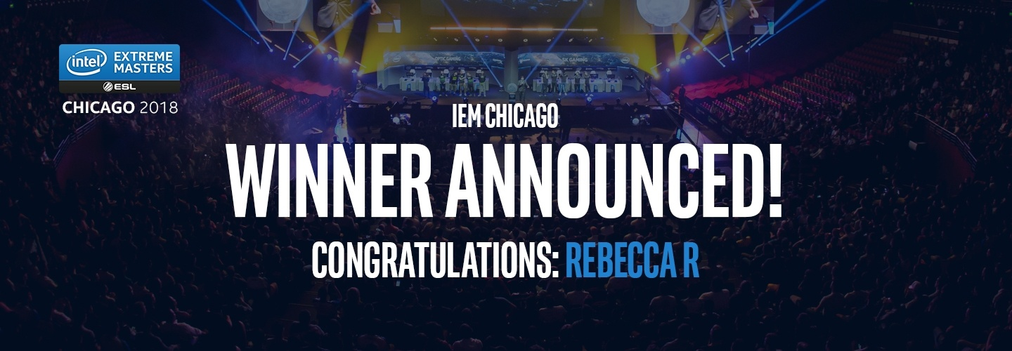Congratulations to the IEM Chicago Prize Winner at PB Tech