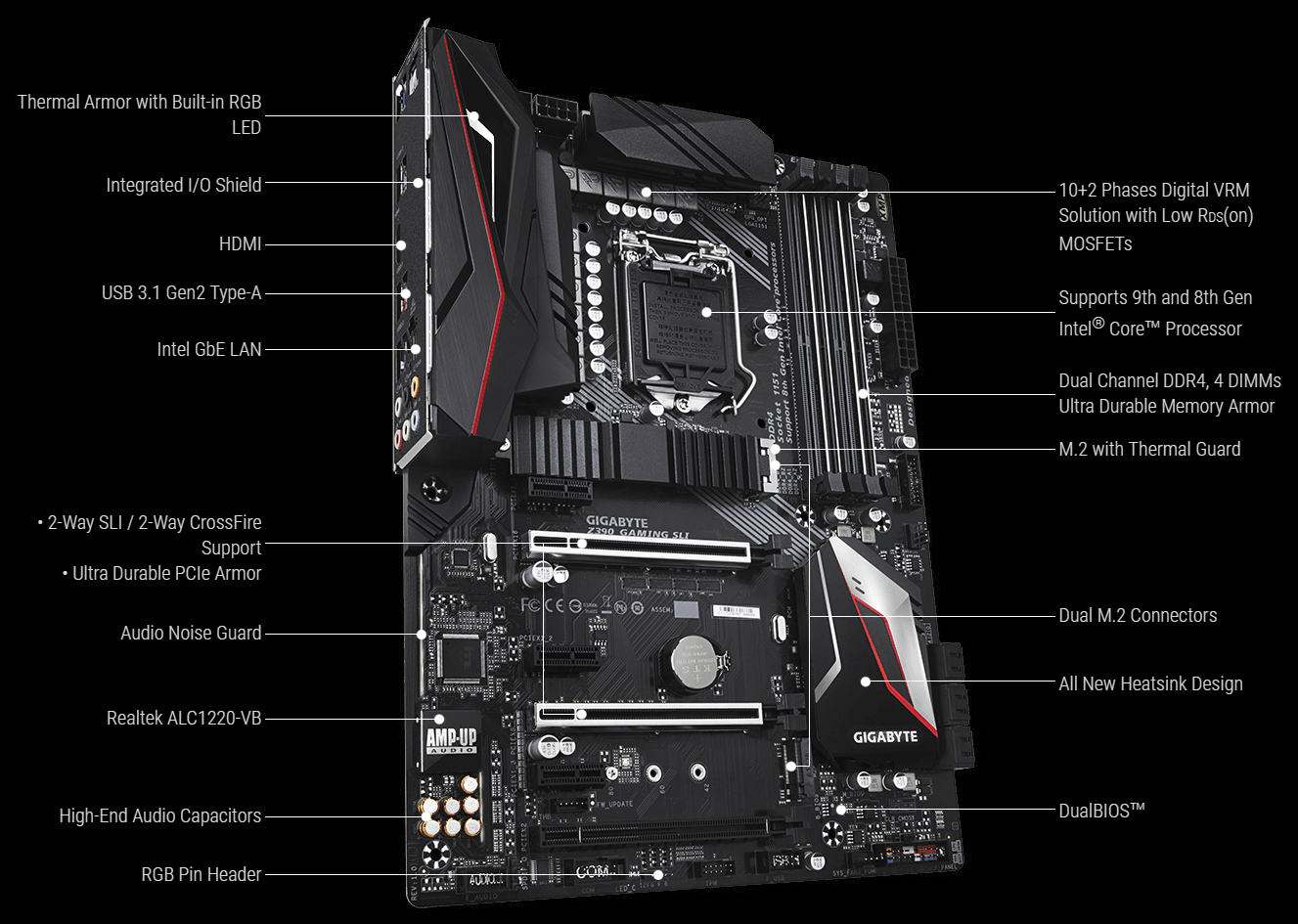 Buy the Gigabyte Z390 GAMING SLI ATX Form Factor, For Intel