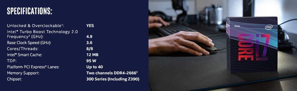 Buy the Intel Coffee Lake Core i7 9700K 8 Core 3 6Ghz 12MB
