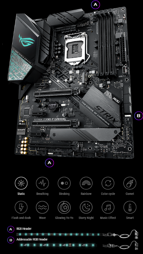Buy the ASUS ROG STRIX Z390-F GAMING ATX Form, For Intel 8th