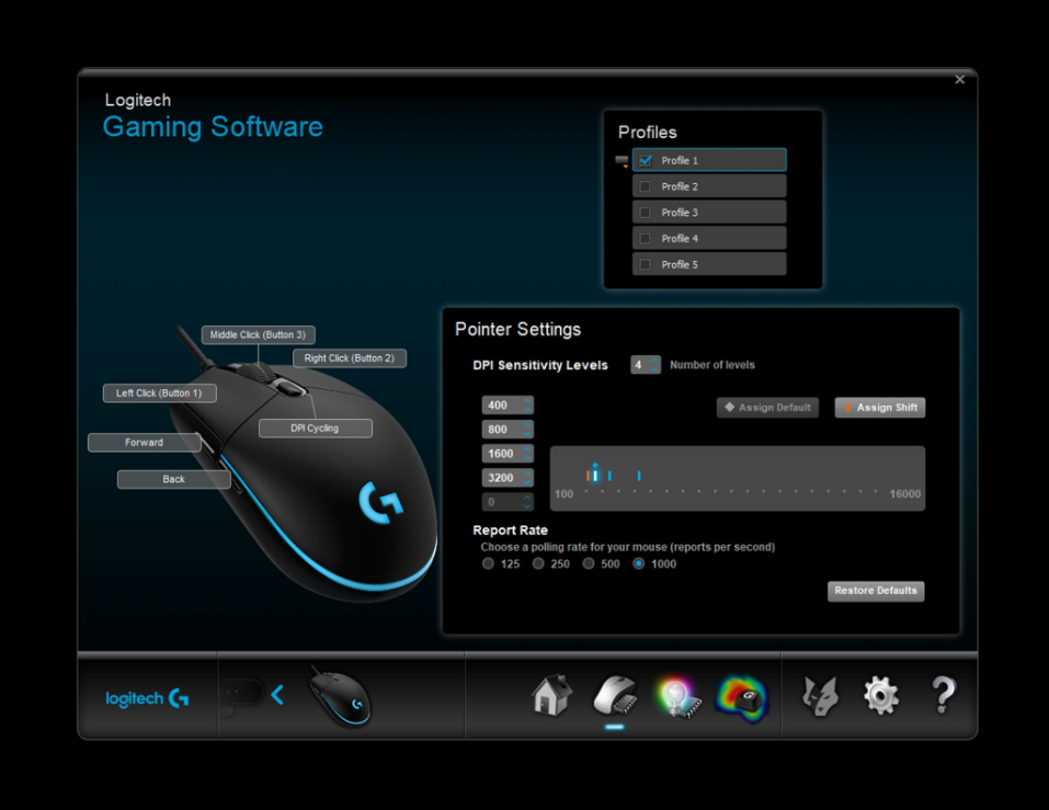 Buy the Logitech G Pro Hero RGB Wired Gaming Mouse ( 910-005442 ) online